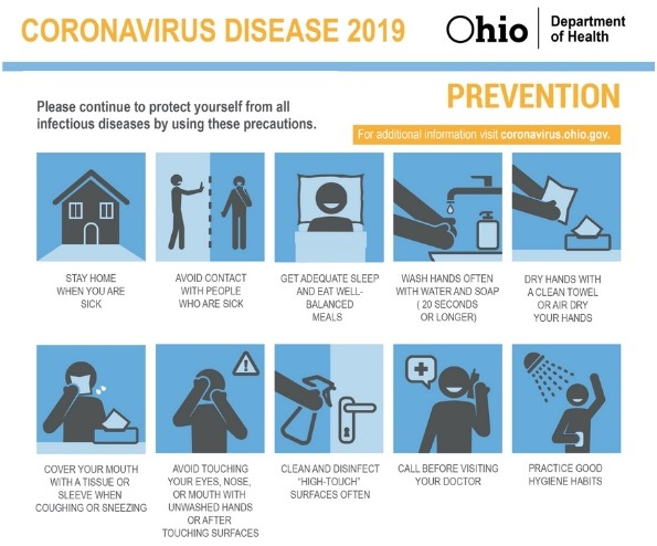 Ohio Department of Health Prevention Tips